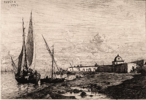 Adolphe-Appian-Return-of-the-Fishing-Boats-at-Collioure,-near-the-Spanish-B-painting-artwork-print.jpg