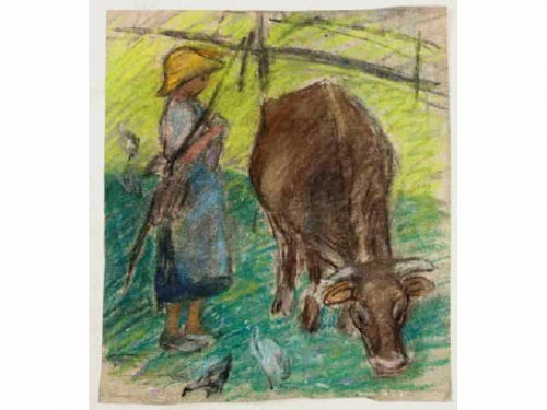 jeune paysanne et savache.jpg