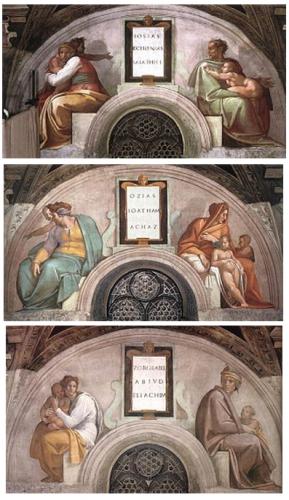michel ange,ancêtres,christ,careri,sixtine,savonarole,antisémitisme,