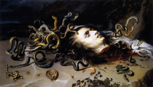 rubens - The Head of Medusa. 1617. Oil on wood. 69 x 118 cm. Kunsthistorisches Museum, Vienna, Austria.jpg